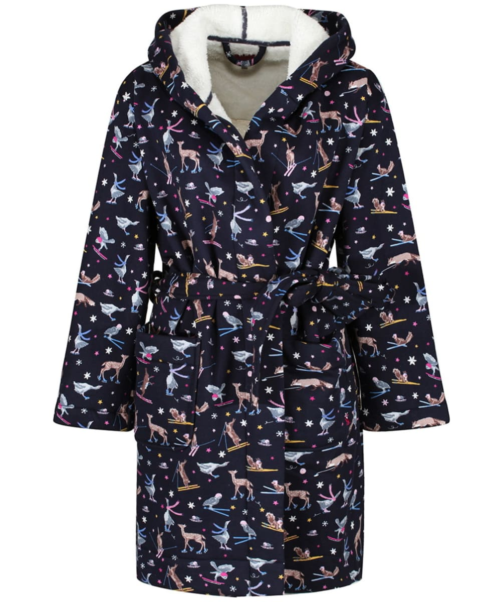 84c24bb3ef Women s Joules Idlewhile Jersey Dressing Gown - French Navy Woodland Ski