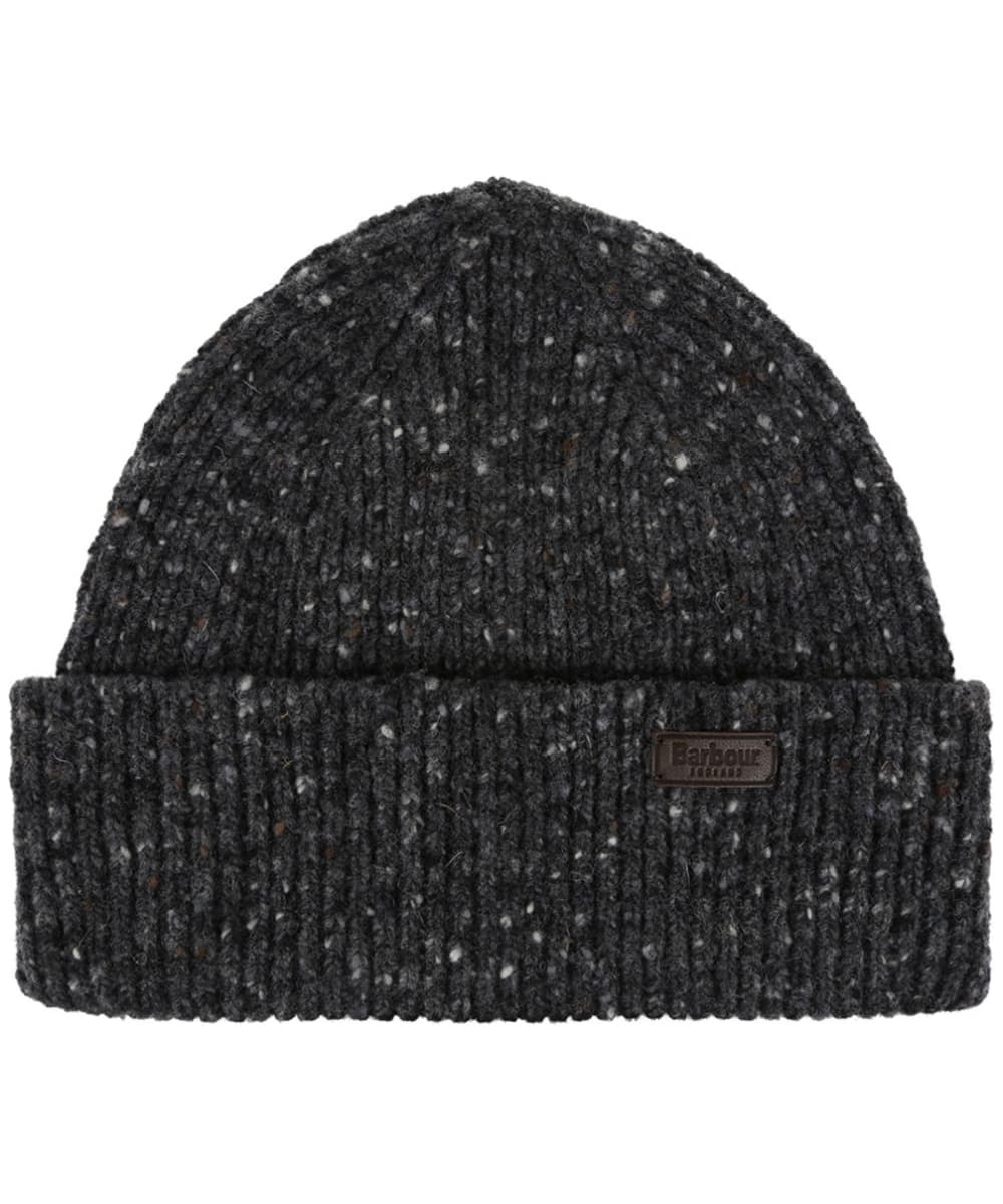 Men s Barbour Lowerfell Donegal Beanie Hat - Charcoal 4e272fa60bc4