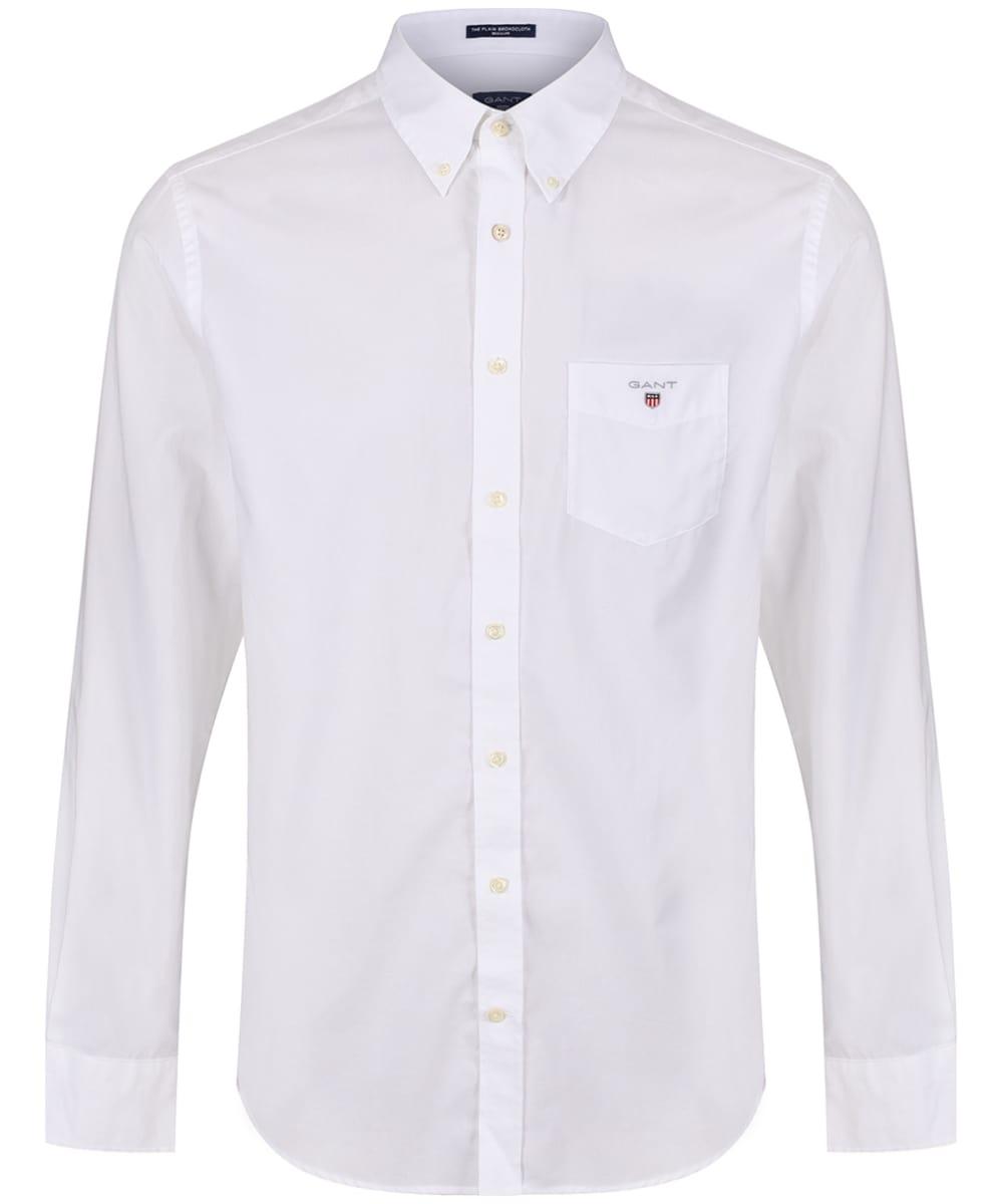 8b9ec5f1919 ... Hamptons Blue Men's GANT Regular Broadcloth Shirt - White ...