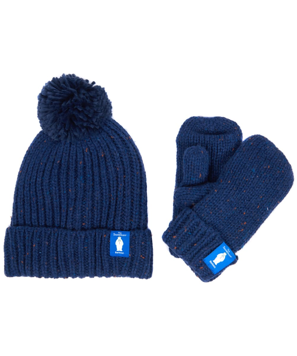 48a692a5c60 Barbour Kids  The Snowman™  Asthon Beanie and Mitt Gift Set - Navy