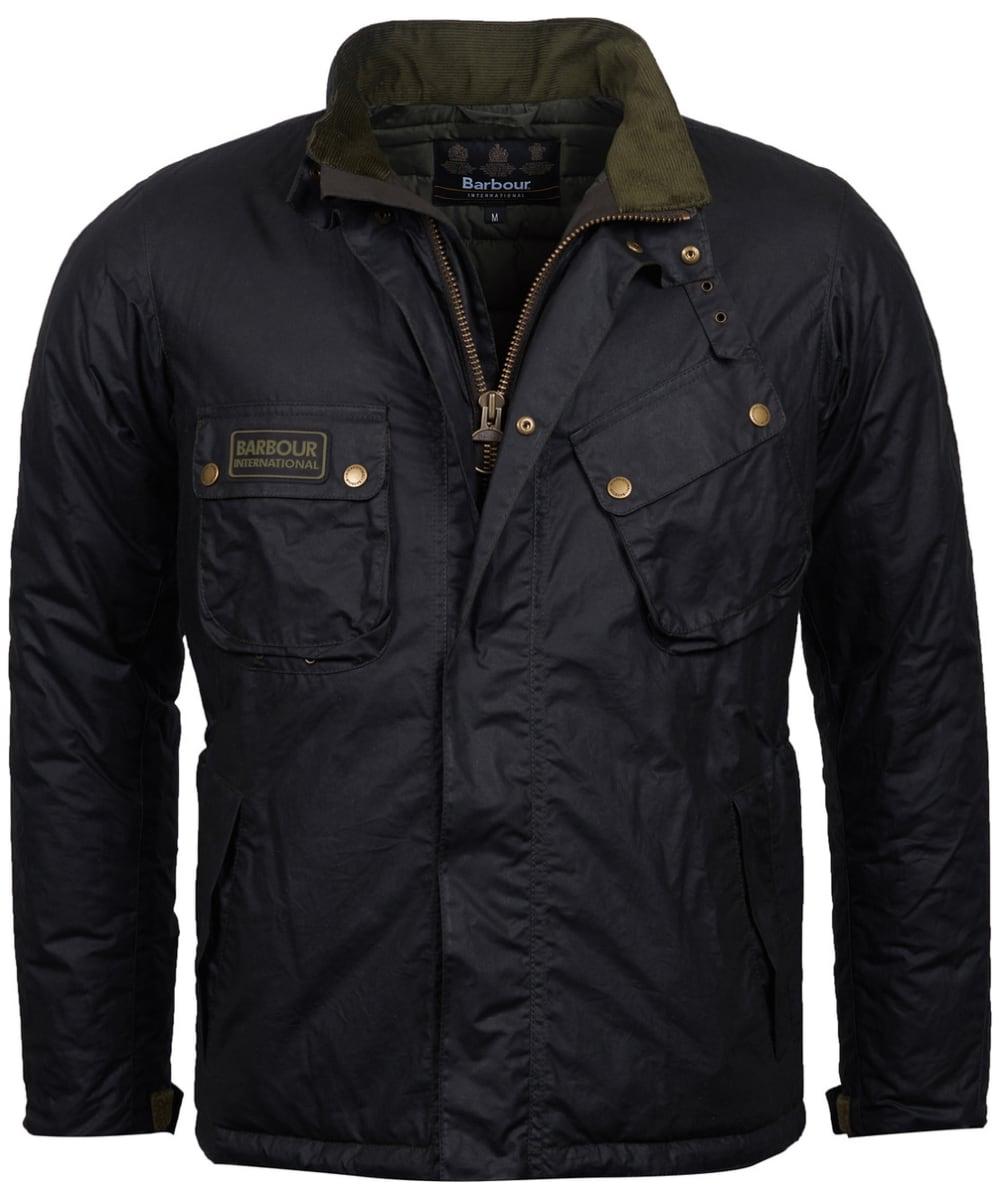 ea55497909 ... Men's Barbour International Lever Wax Jacket - Sage ...