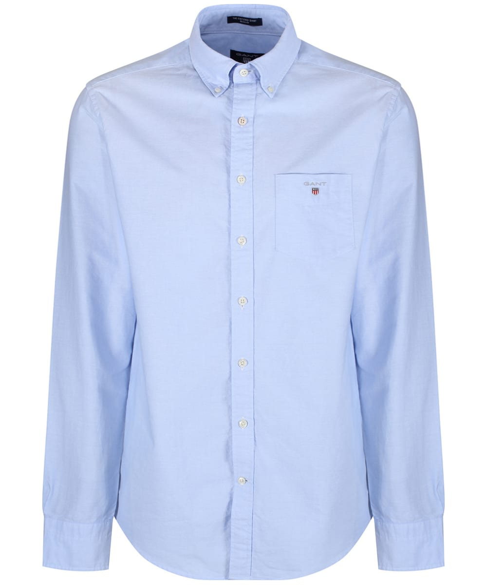 d13b1a36c5 ... Men's Gant Regular Oxford Shirt - Capri Blue ...