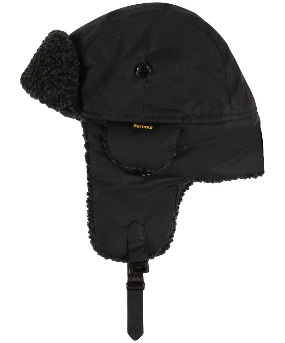 d1c31858f8a Men s Barbour Fleece Lined Trapper Waxed Hat - Black