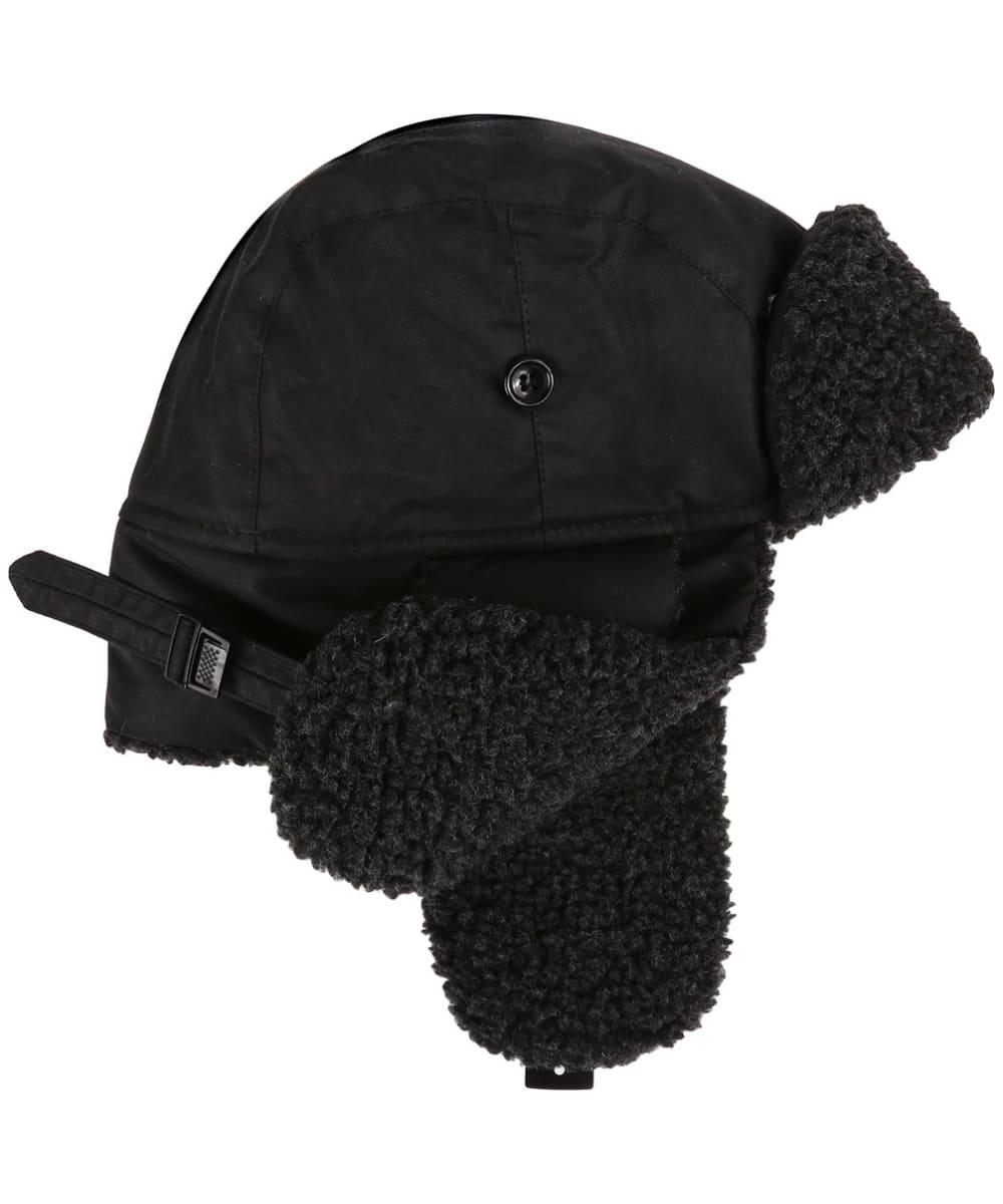 3f6b27b72ea3 ... Men's Barbour Fleece Lined Trapper Waxed Hat - Black ...