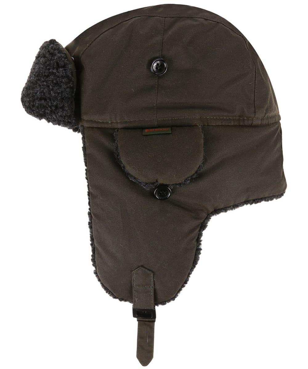 e3843128638b41 ... Men's Barbour Fleece Lined Trapper Waxed Hat - Olive ...