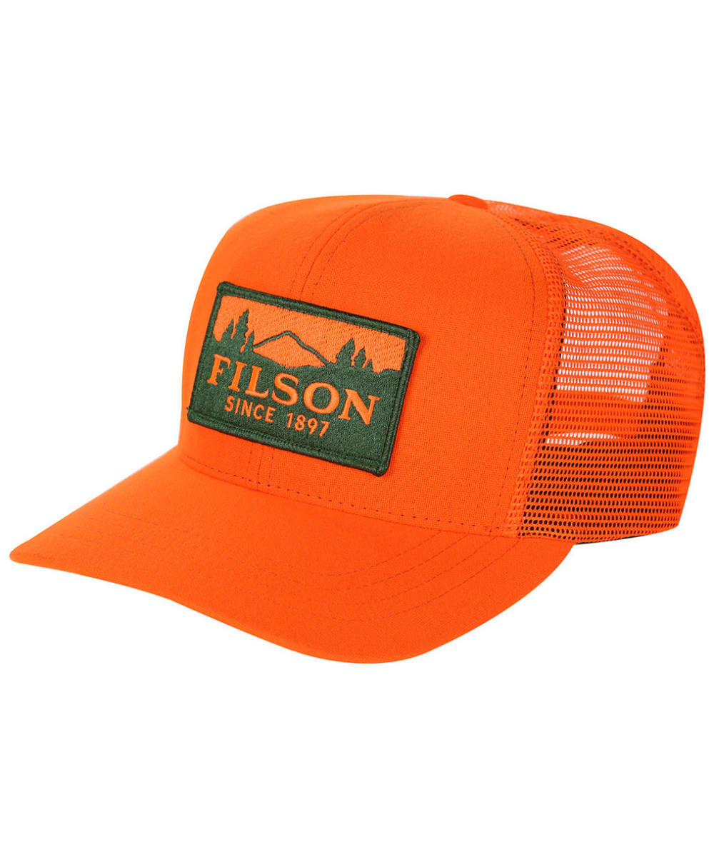 Men s Filson Logger Mesh Cap - Blaze Orange 582b5e15b0d