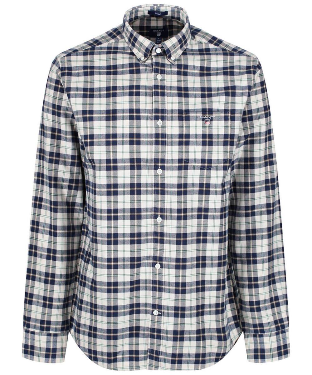 635aa85f141 Men's GANT Brushed Oxford Plaid Shirt - Putty