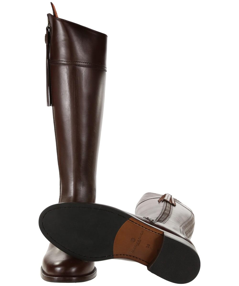 5b6ad6285e7 ... Women's Fairfax & Favor Regina Flat Leather Boots - Mahogany Leather ...