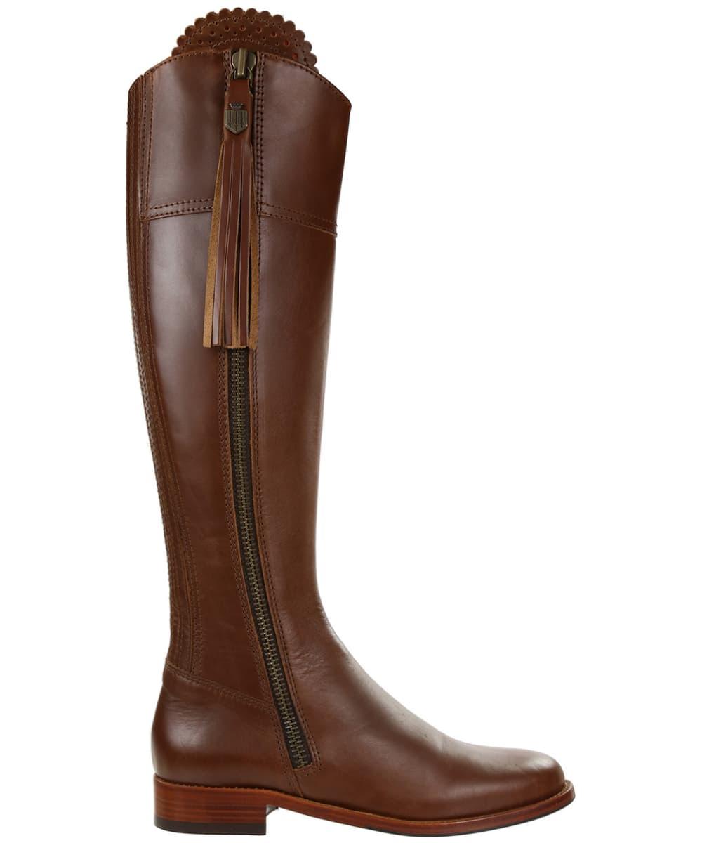 64c82f9da67 ... Women's Fairfax & Favor Regina Flat Leather Boots - Tan Leather ...