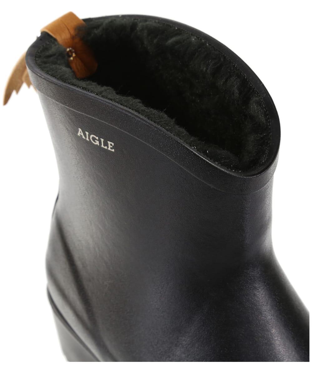 2d6487bf462ca ... Women s Aigle Miss Juliette Bottillon Faux Fur Lined Ankle Boots - Black  ...