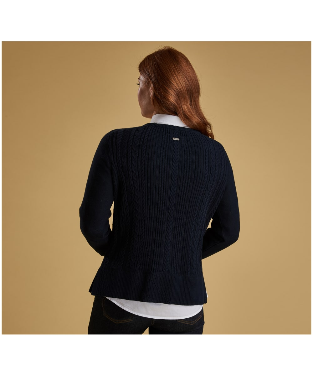 9ca89c51c91e Women s Barbour Causeway Knitted Cardigan - Navy Women s Barbour Causeway Knitted  Cardigan - Navy ...