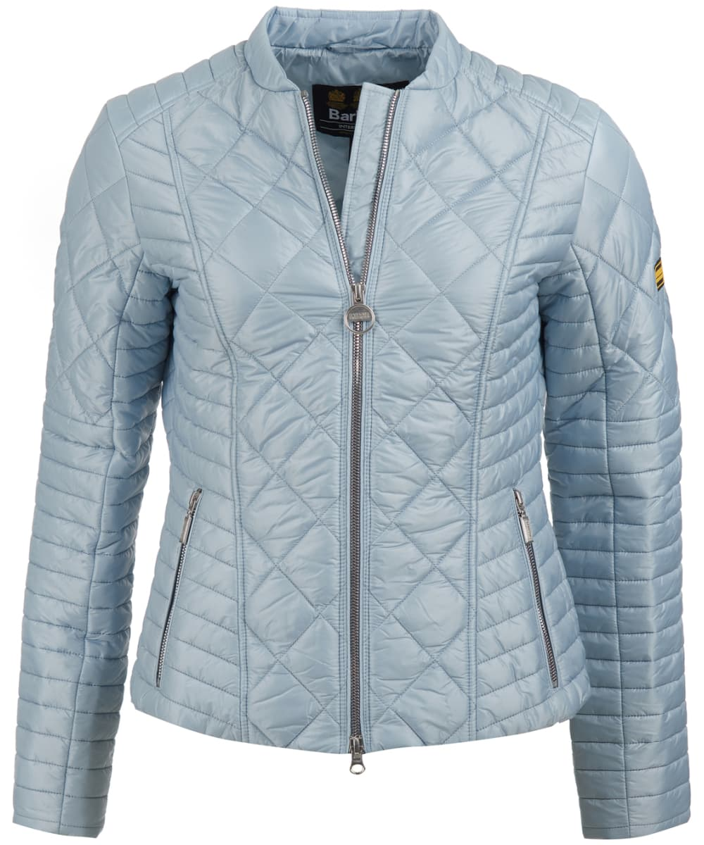 e1d1c6685559 ... Women s Barbour International Sprinter Quilted Jacket - Ice Blue ...
