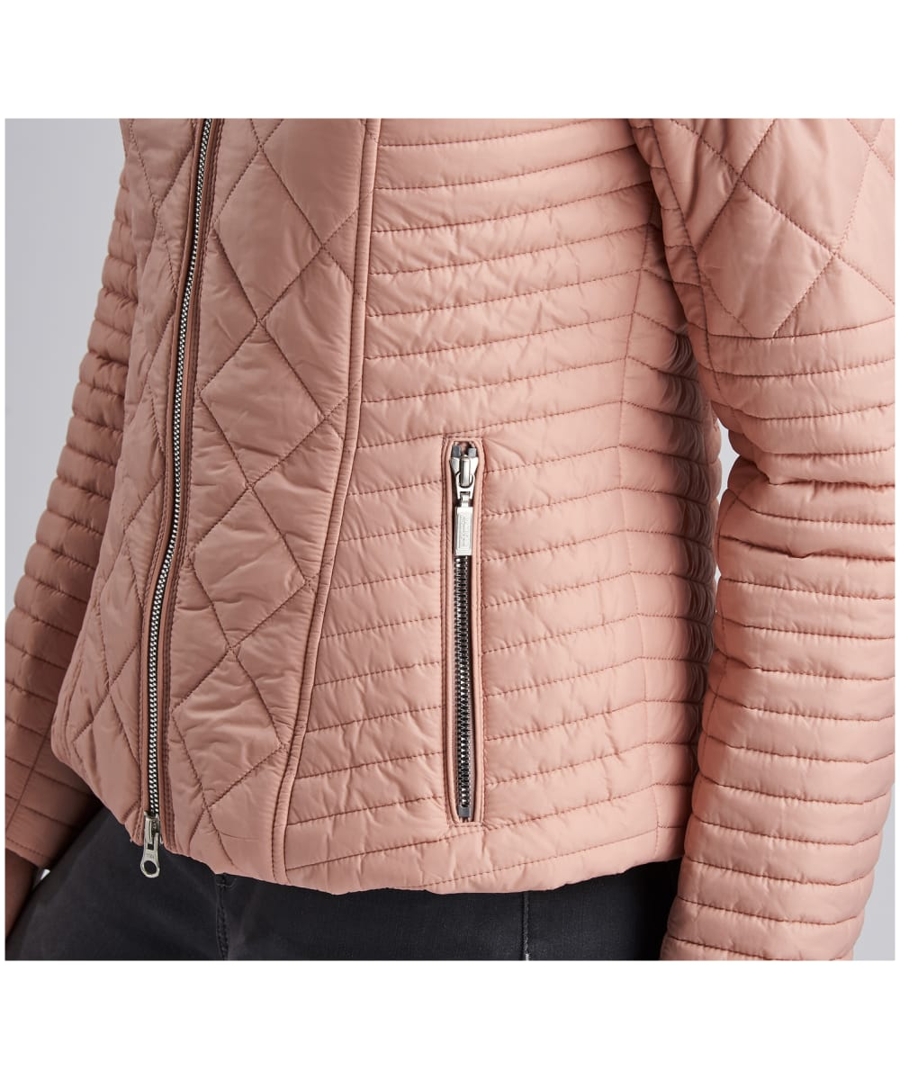 6a83f44d99d8 ... Women s Barbour International Sprinter Quilted Jacket - Nude ...