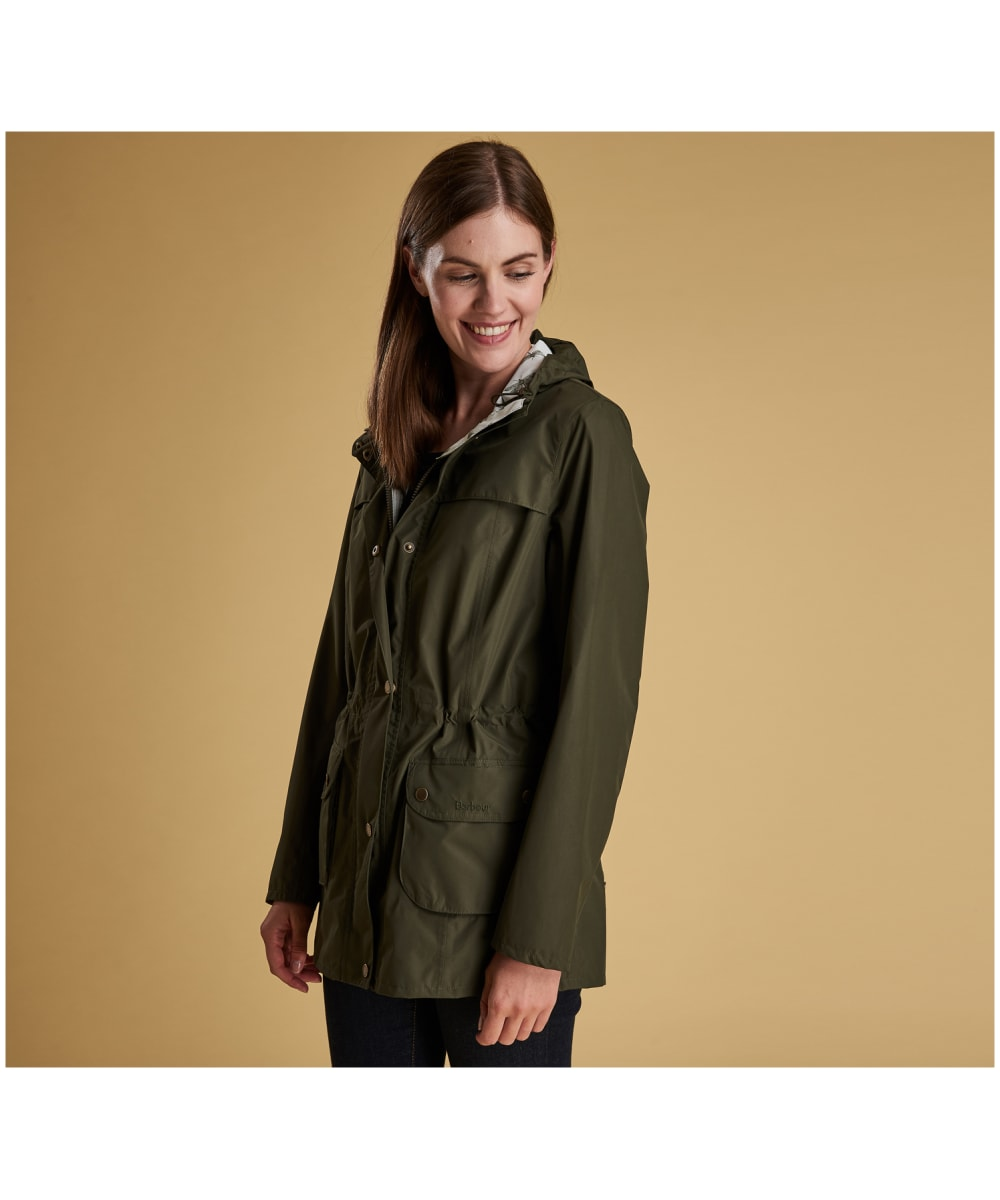 bdc86709bf118 ... Women's Barbour Aire Waterproof Jacket - Olive ...