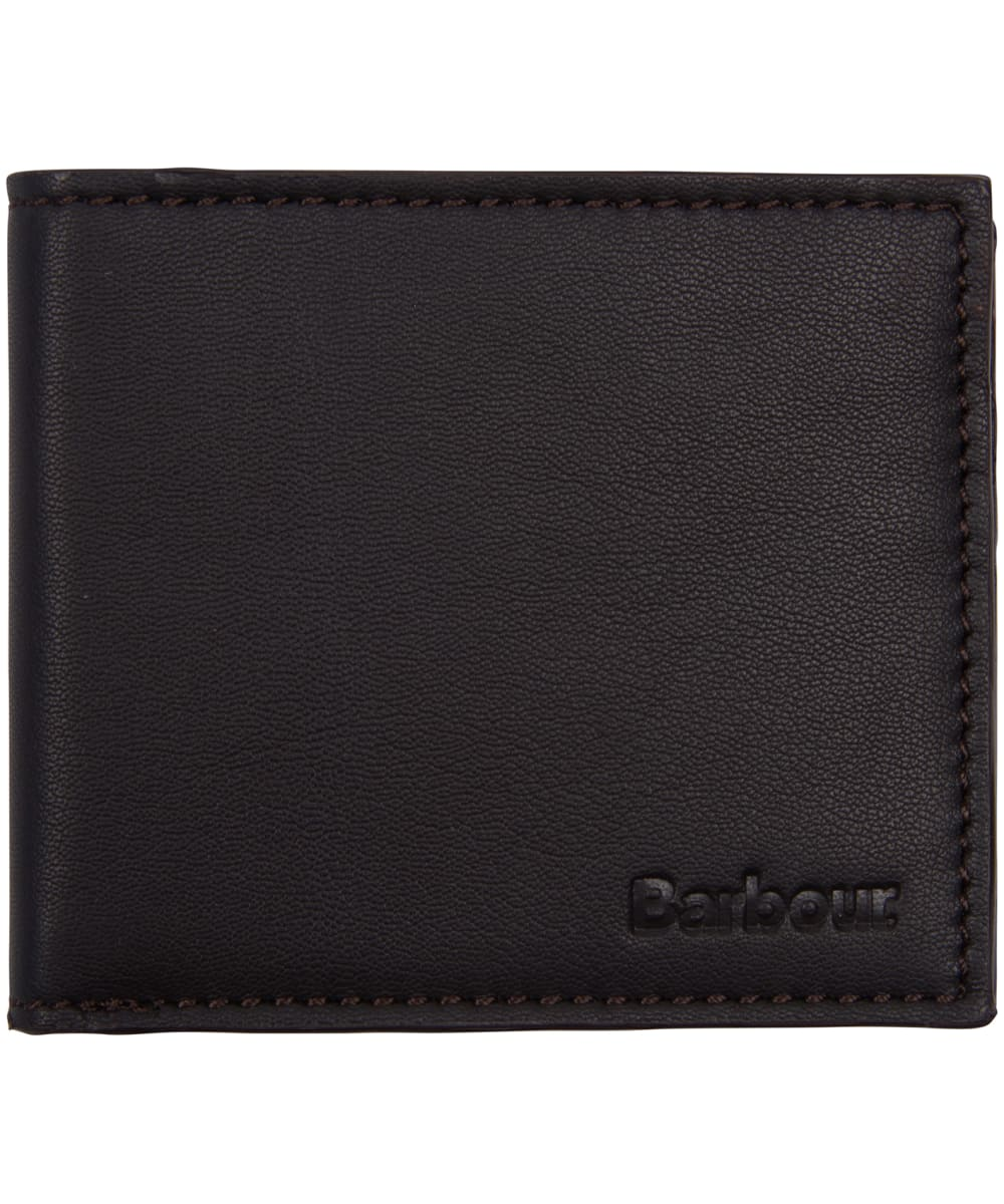 c150ba57 ... Men's Barbour Leather Wallet and Cufflinks Giftset - Dark Brown ...