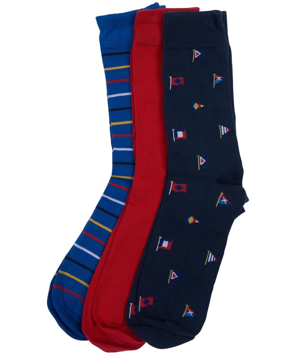 f9f9125e39 Men's Barbour Flag Stripe 3 Pack Sock Gift Set
