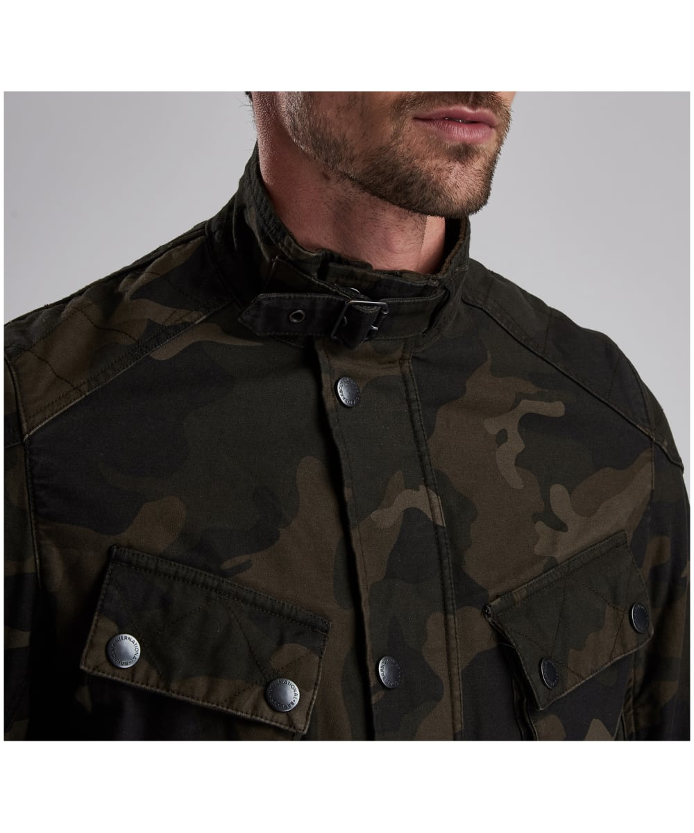 55527c7611052 ... Men's Barbour International Washed Camo Jacket - Camo ...