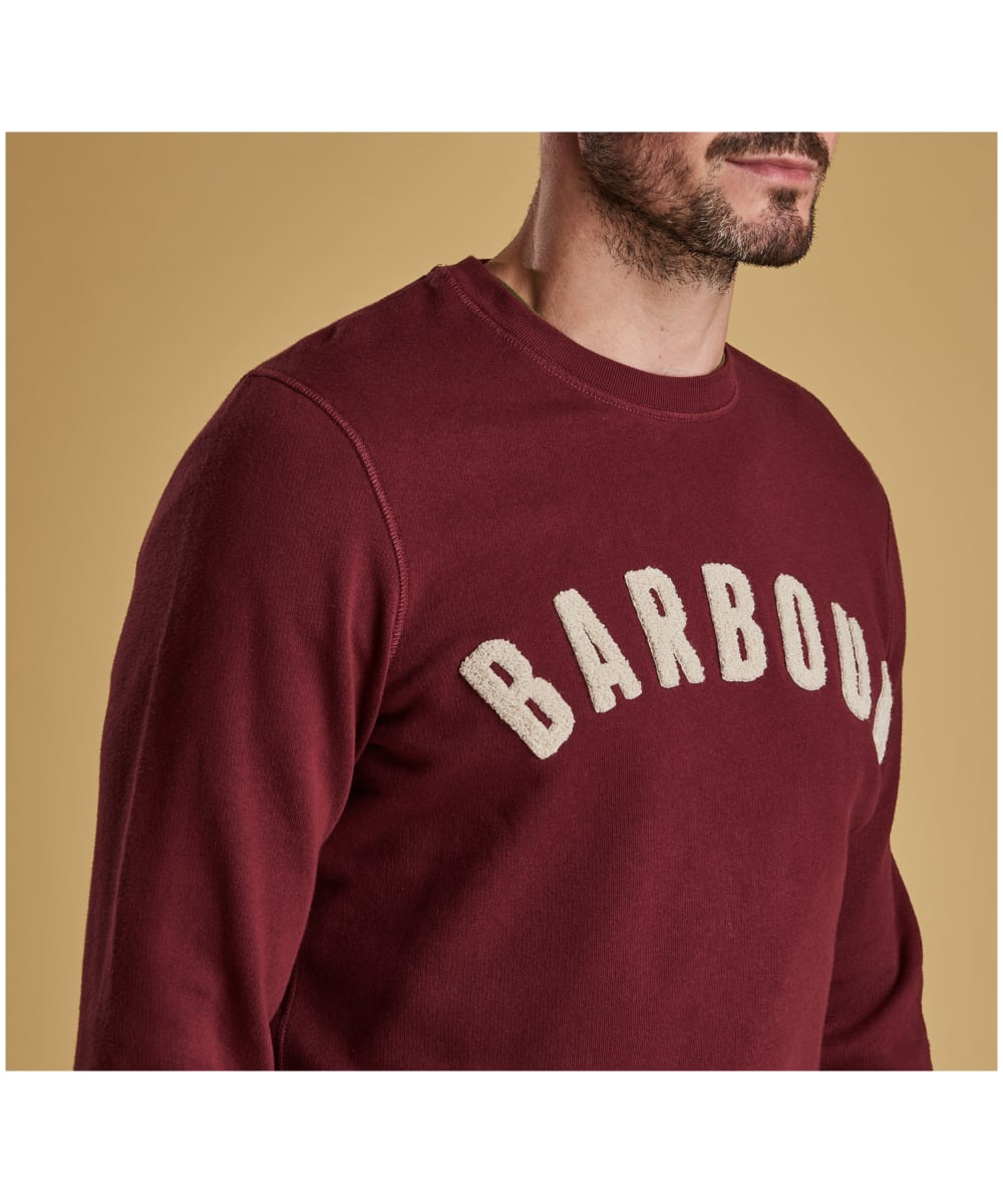 82dd843786179 ... Men s Barbour Prep Logo Crew Sweater - Ruby