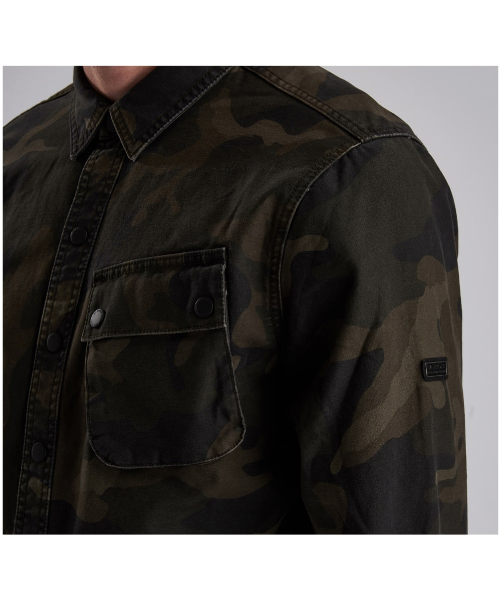 851f1f5a66353 ... Men's Barbour International Camo Overshirt - Dark Olive