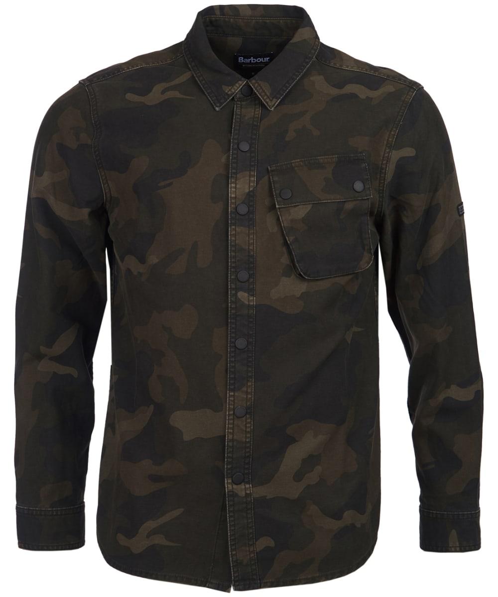 7c6256b7bd0c2 Men's Barbour International Camo Overshirt - Dark Olive