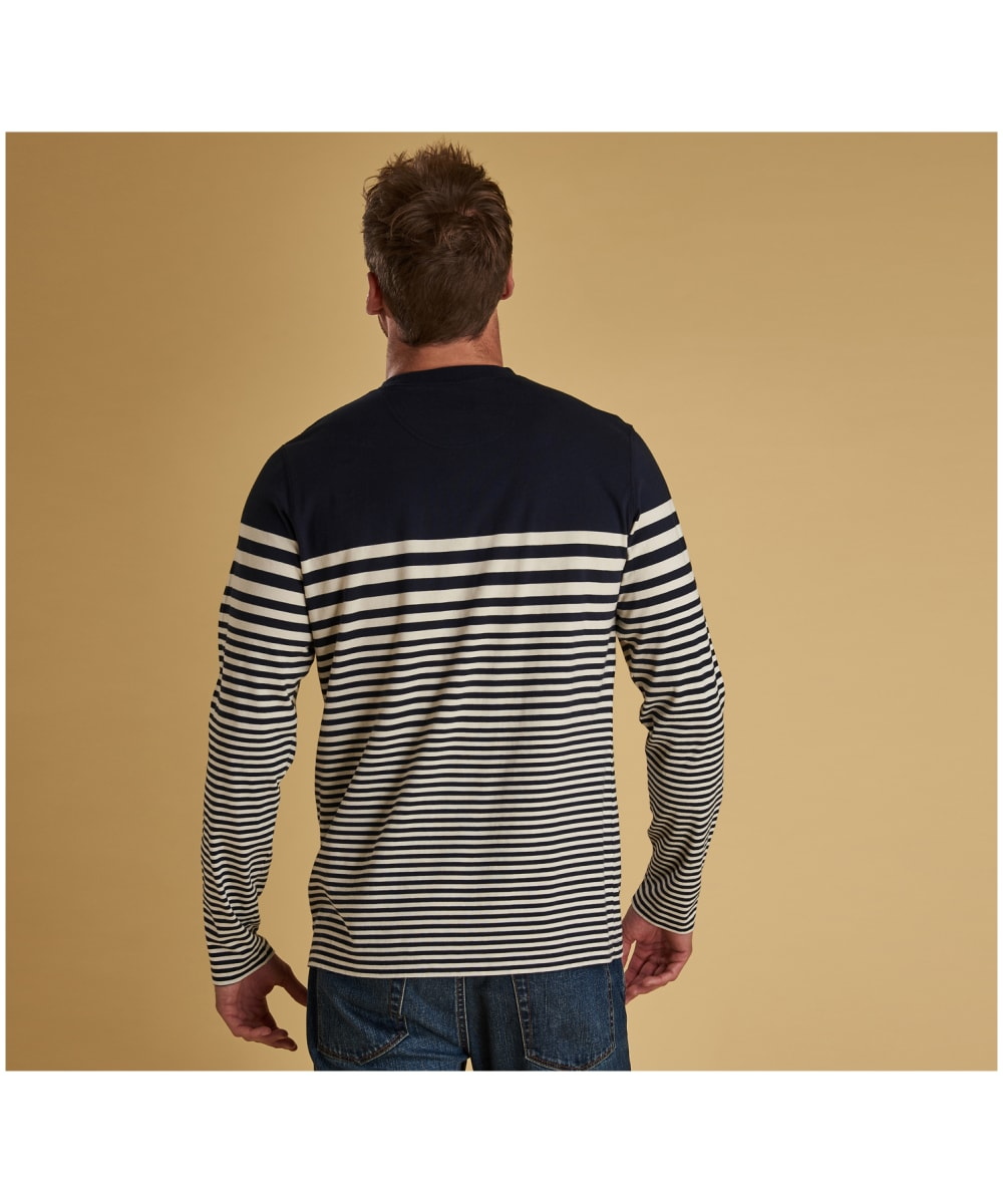aa5f93c3 ... Men's Barbour Triton Striped Long Sleeve Top - Navy ...