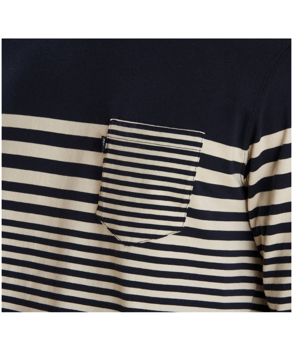 92f32907 ... Men's Barbour Triton Striped Long Sleeve Top - Navy