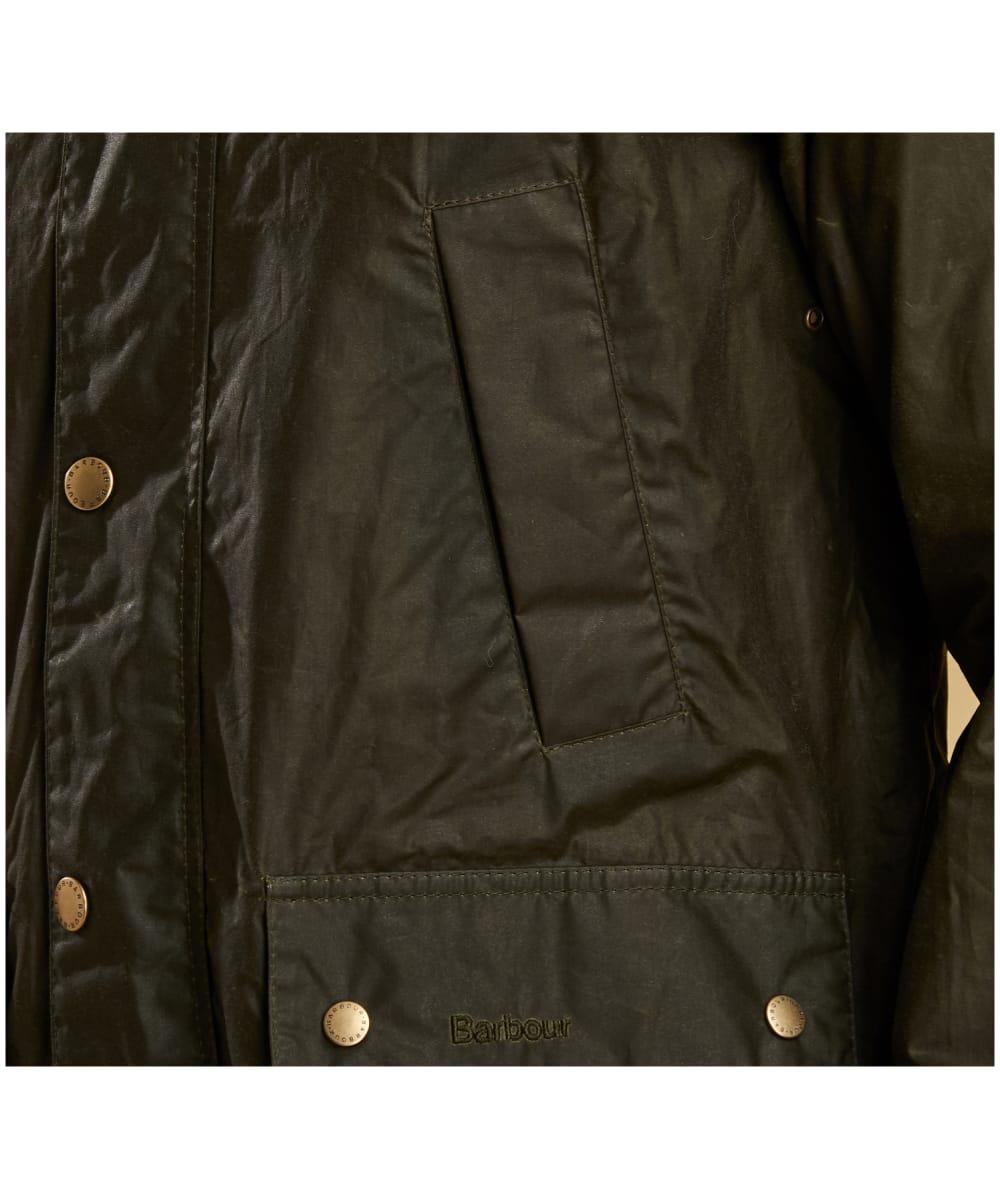 e3da72ea286 ... Men's Barbour Lightweight Hooded Bedale Waxed Jacket - Archive Olive ...