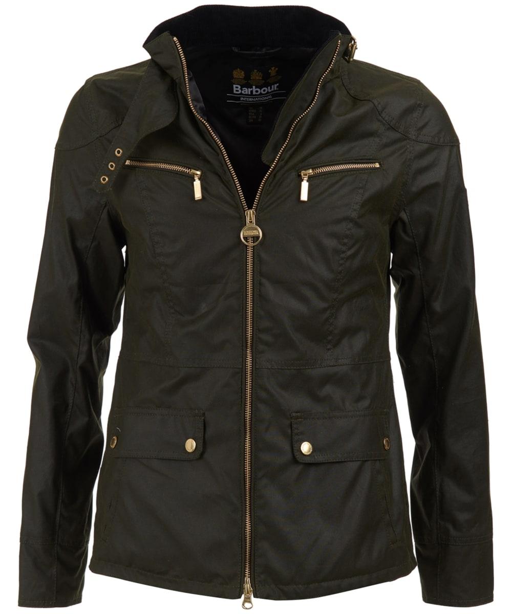 814f4694b45 ... Women's Barbour International Ivy Waxed Jacket - Fern ...