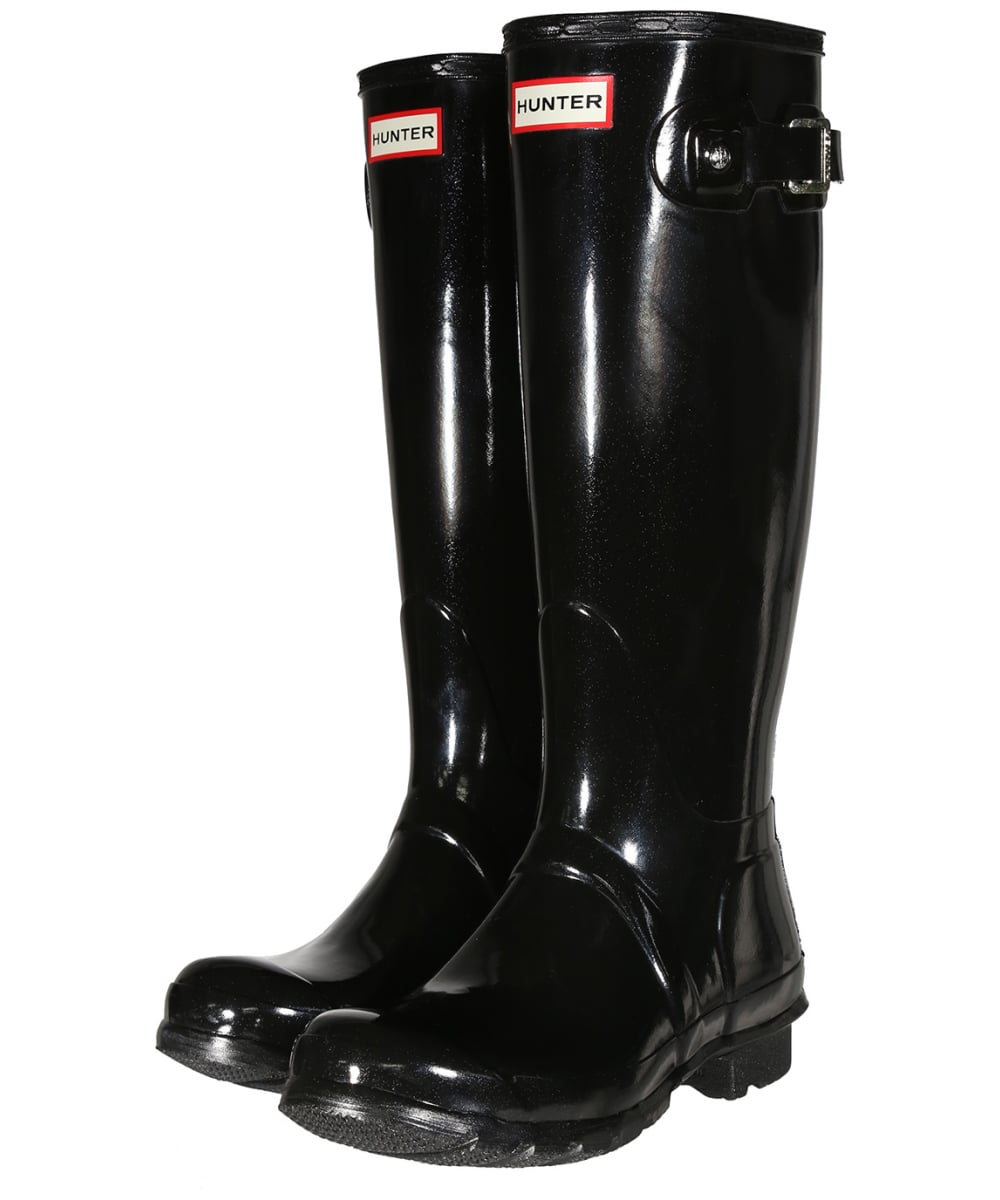 Women s Hunter Original Tall Gloss Wellington Boots - Black 33dc8f1eca