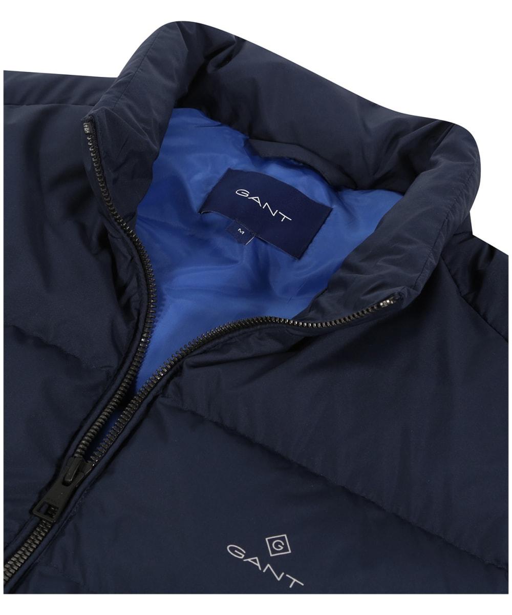 74f5339ac39 ... Men's GANT Panel Down Vest - Evening Blue