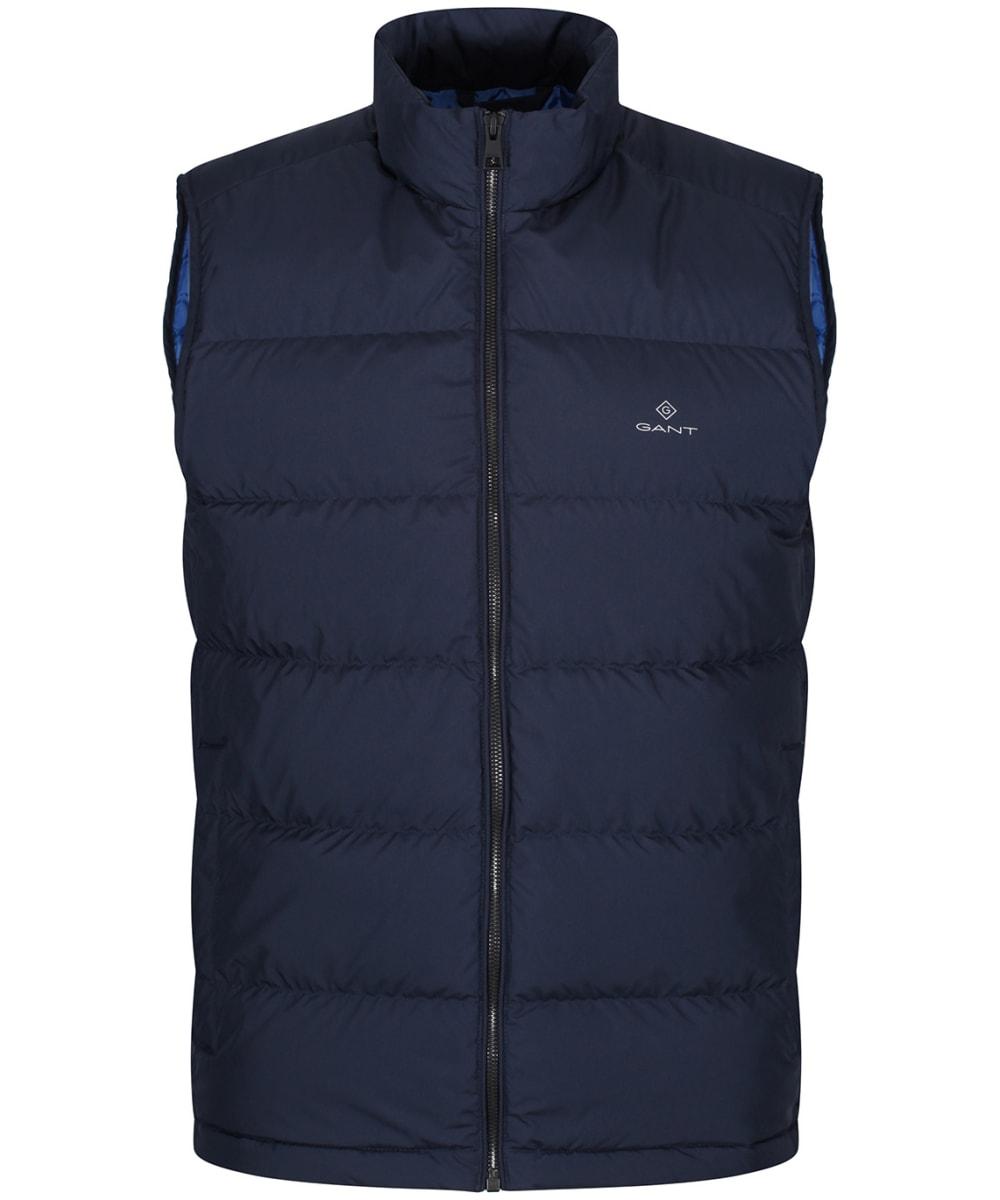 0d3e8431f12 Men's GANT Panel Down Vest - Evening Blue