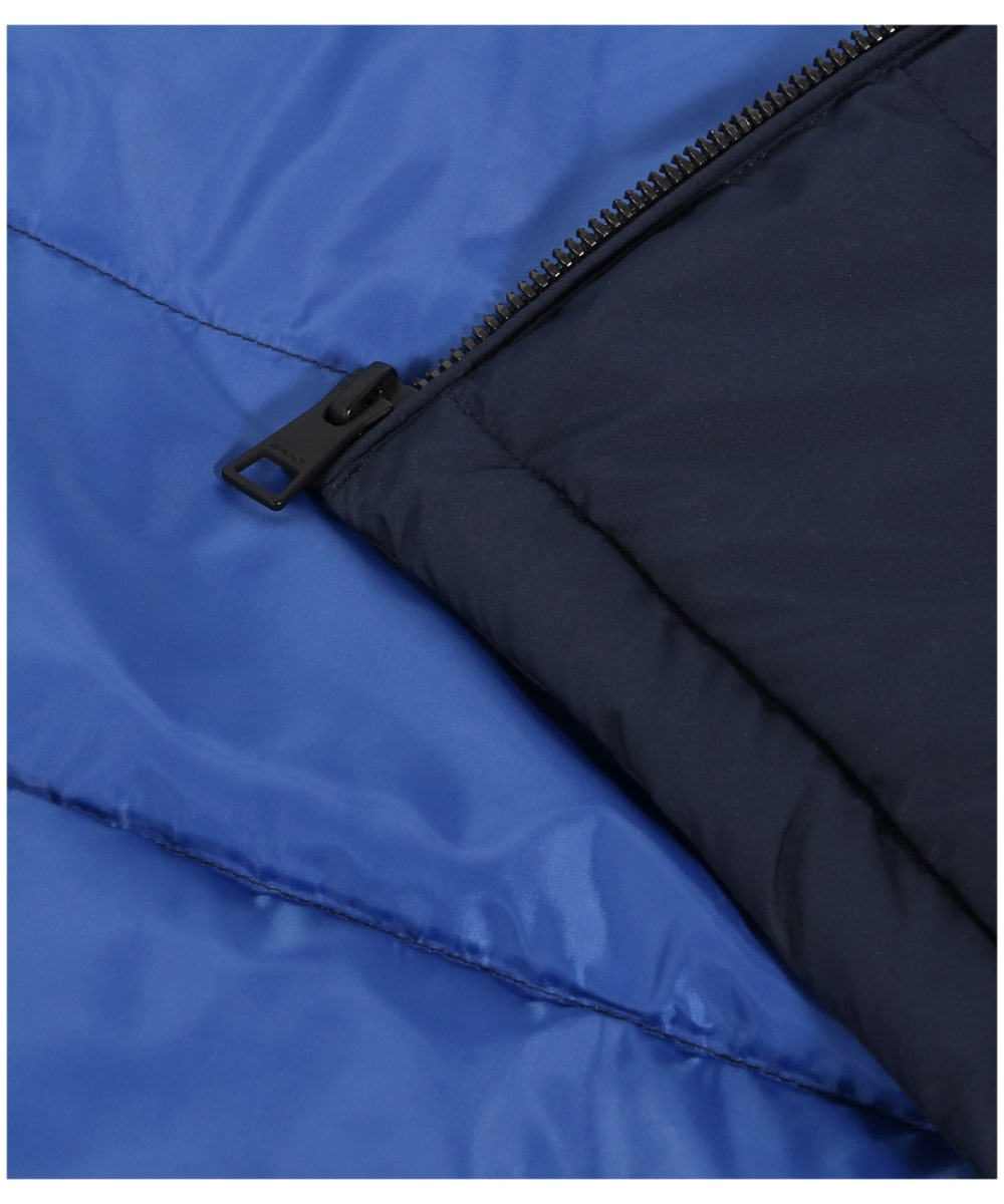 b11640e348b ... Men's GANT Panel Down Vest - Evening Blue ...