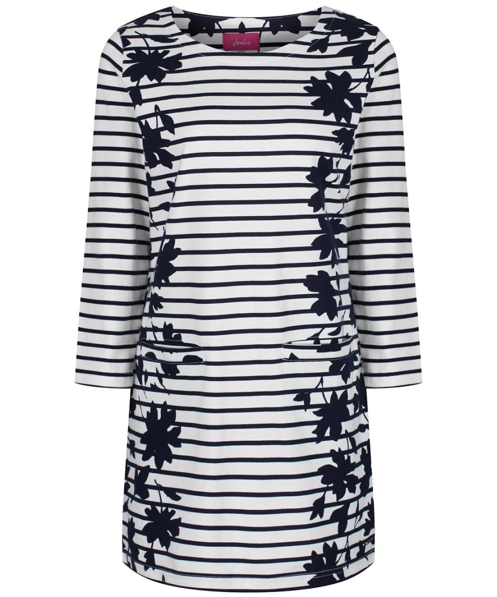 Joules Womens Quinn Tunic with Pockets in NAVY FLORAL BORDER