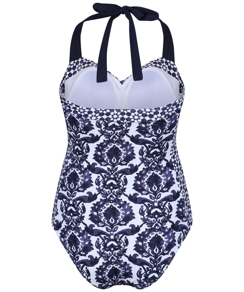 a0d6d3c02ada2 ... Women's Joules Prudith Halterneck Swimsuit - Navy Damask ...