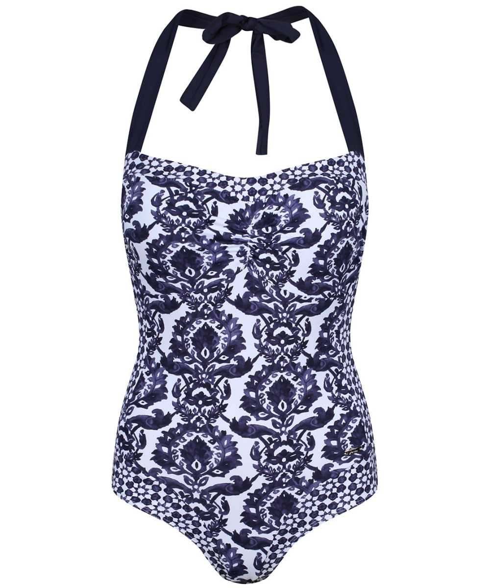 58b724a49eb6f Women's Joules Prudith Halterneck Swimsuit - Navy Damask