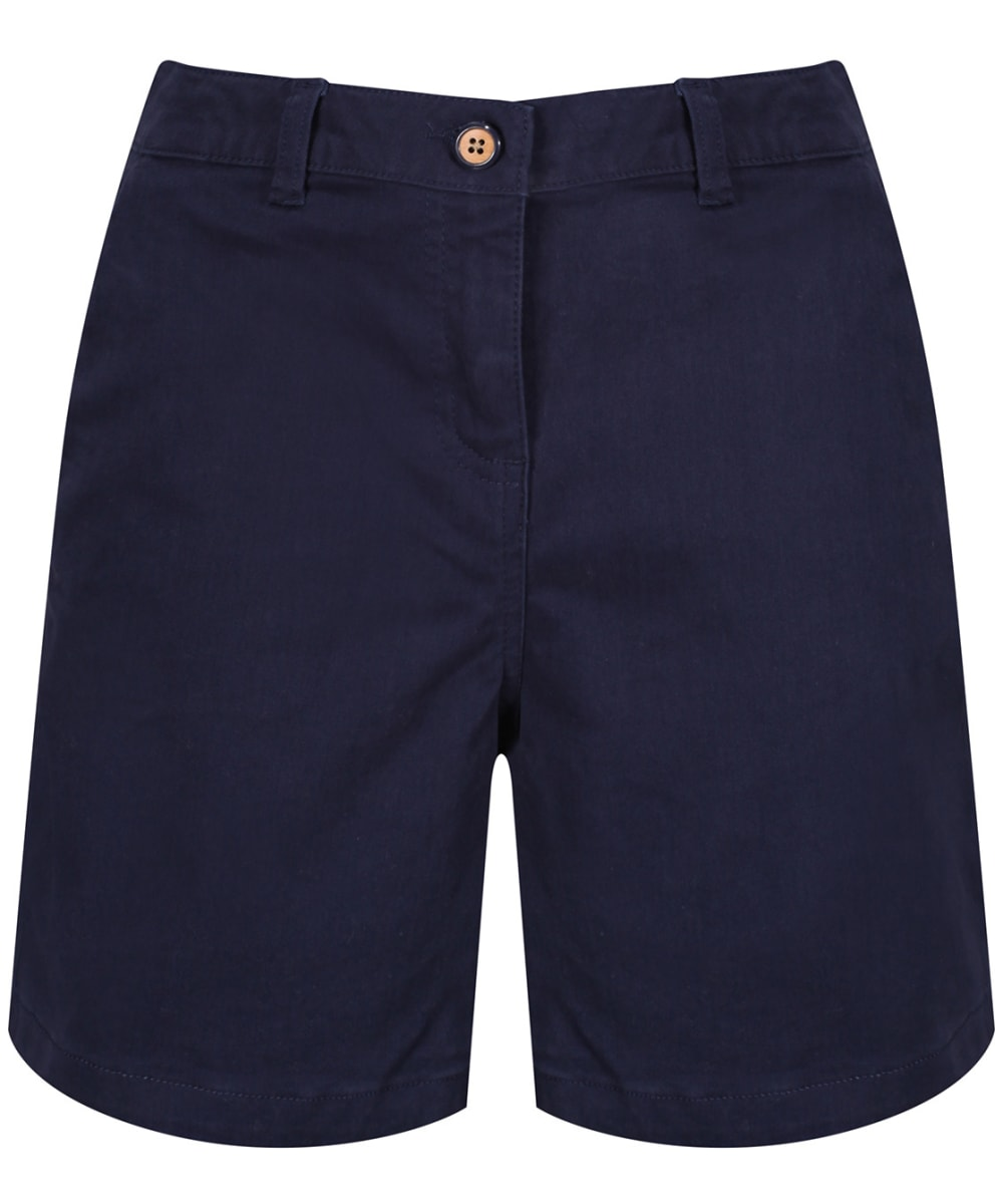 Joules Womens Cruise Mid Thigh Length Chino Shorts in MID BLUE