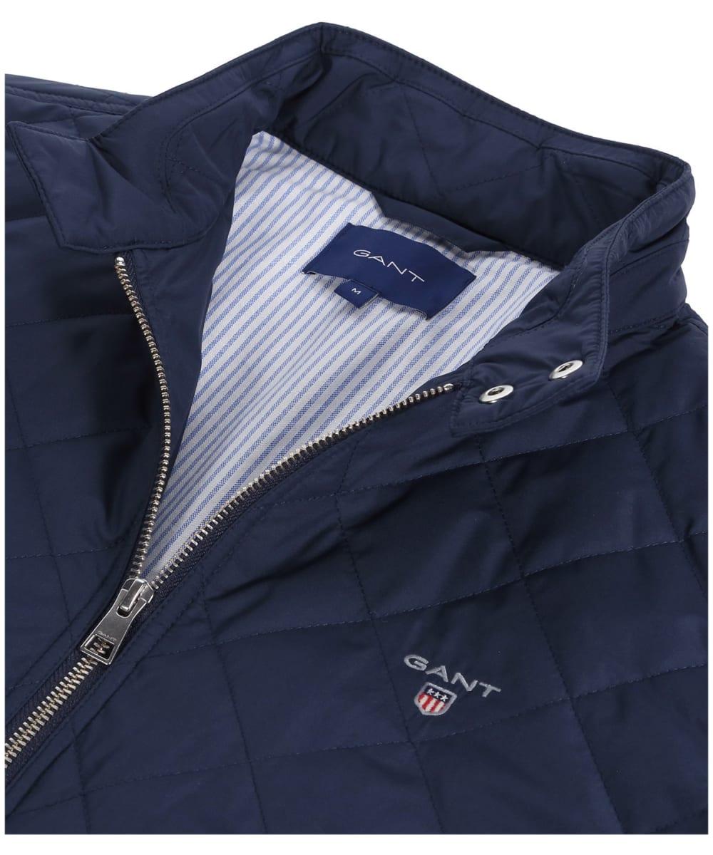 26f0e8f2 ... Men's GANT Quilted Windcheater Jacket - Evening Blue ...