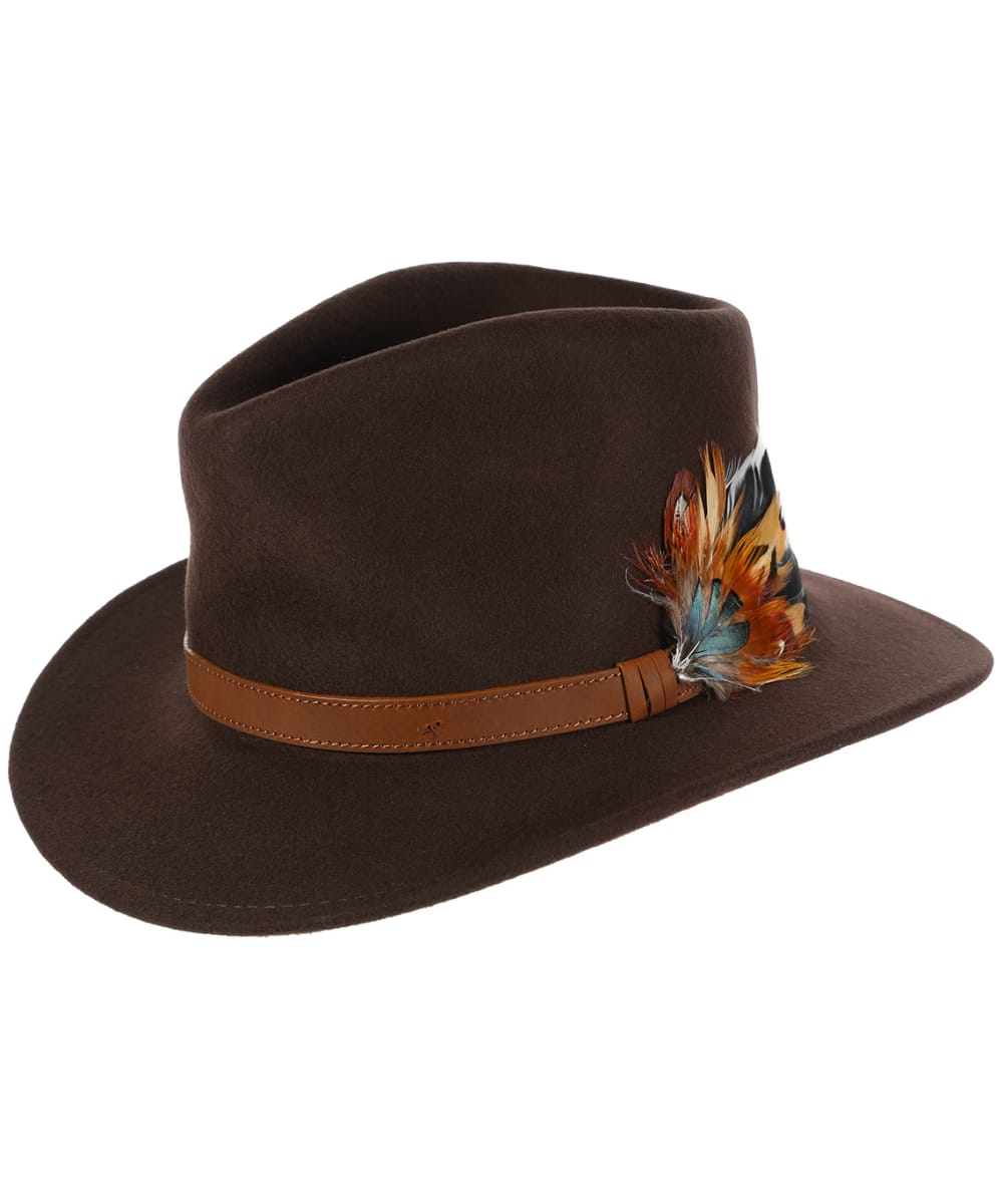 9fb6ef6f4a0f75 Alan Paine Richmond Unisex Felt Hat - Brown