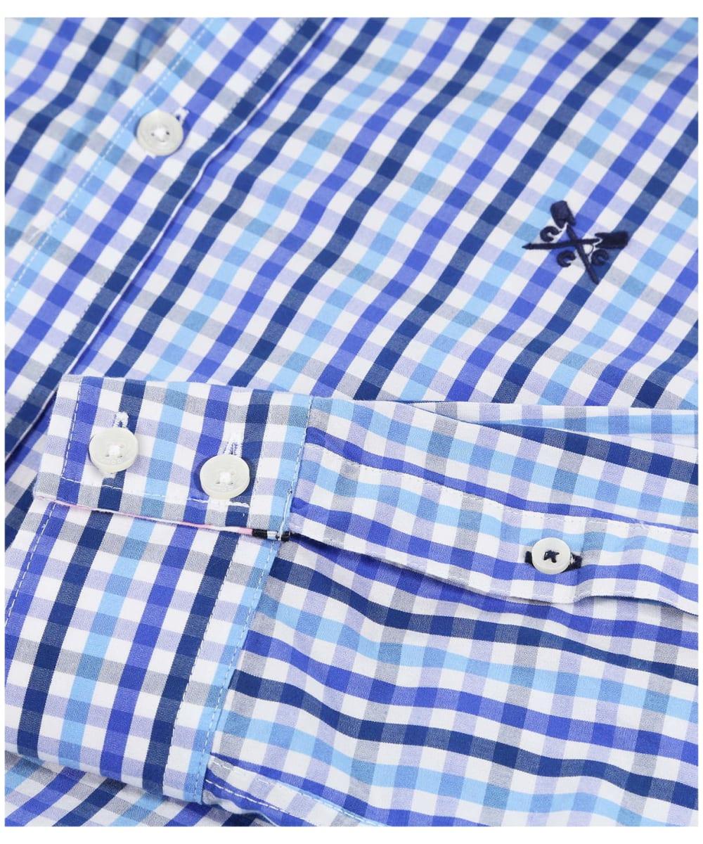 23ec3b75427 ... Men s Crew Clothing Classic Gingham Shirt - Blue Sky   Amparo Blue ...