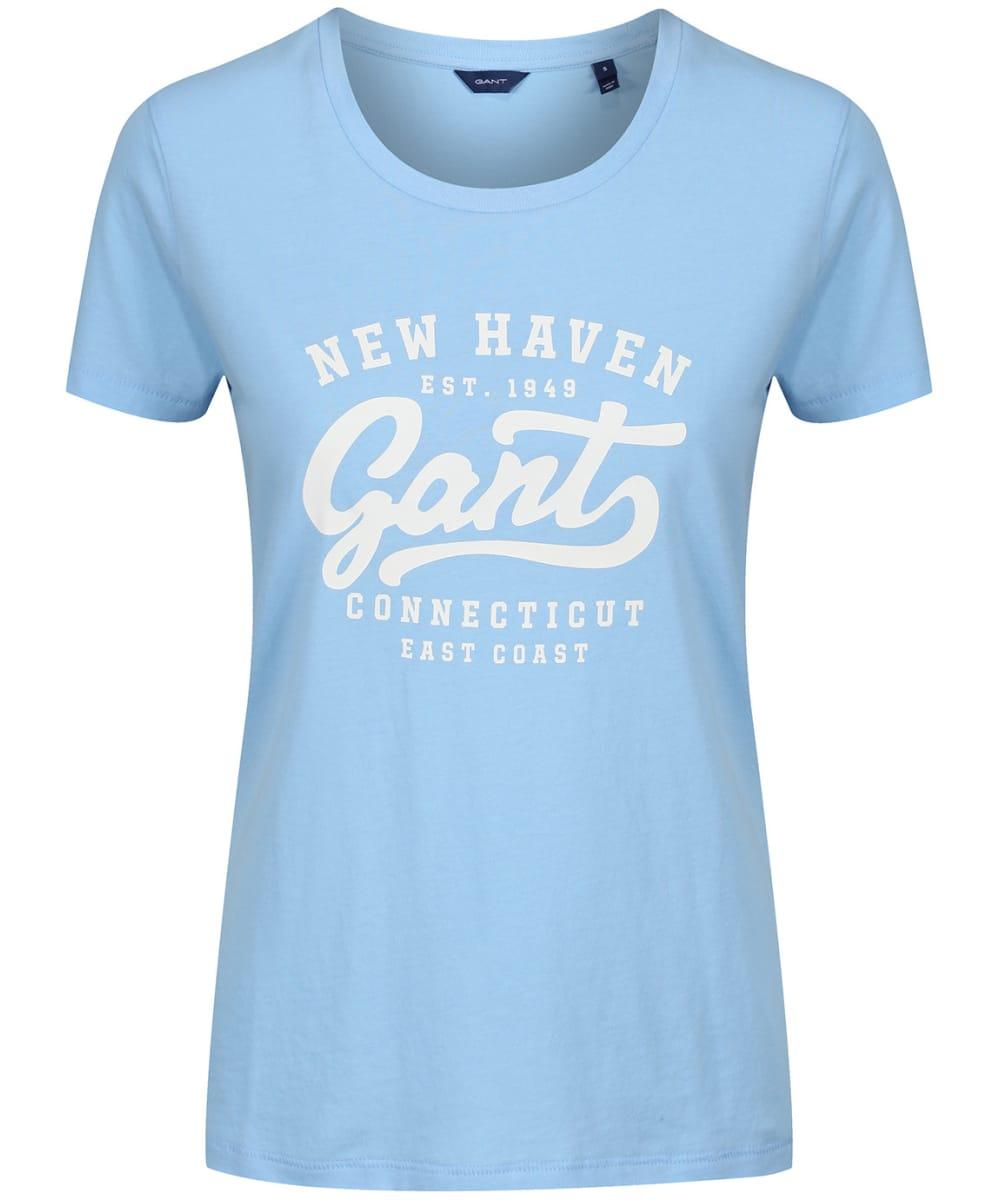 024246b5510 Women's GANT Summer Logo T-Shirt - Capri Blue