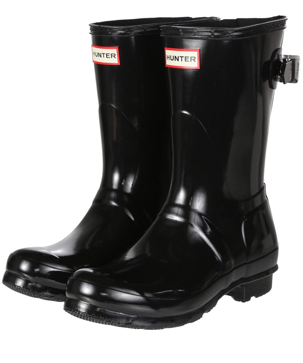 21f49d0b1cf Women's Hunter Original Back Adjustable Short Gloss Wellington Boots