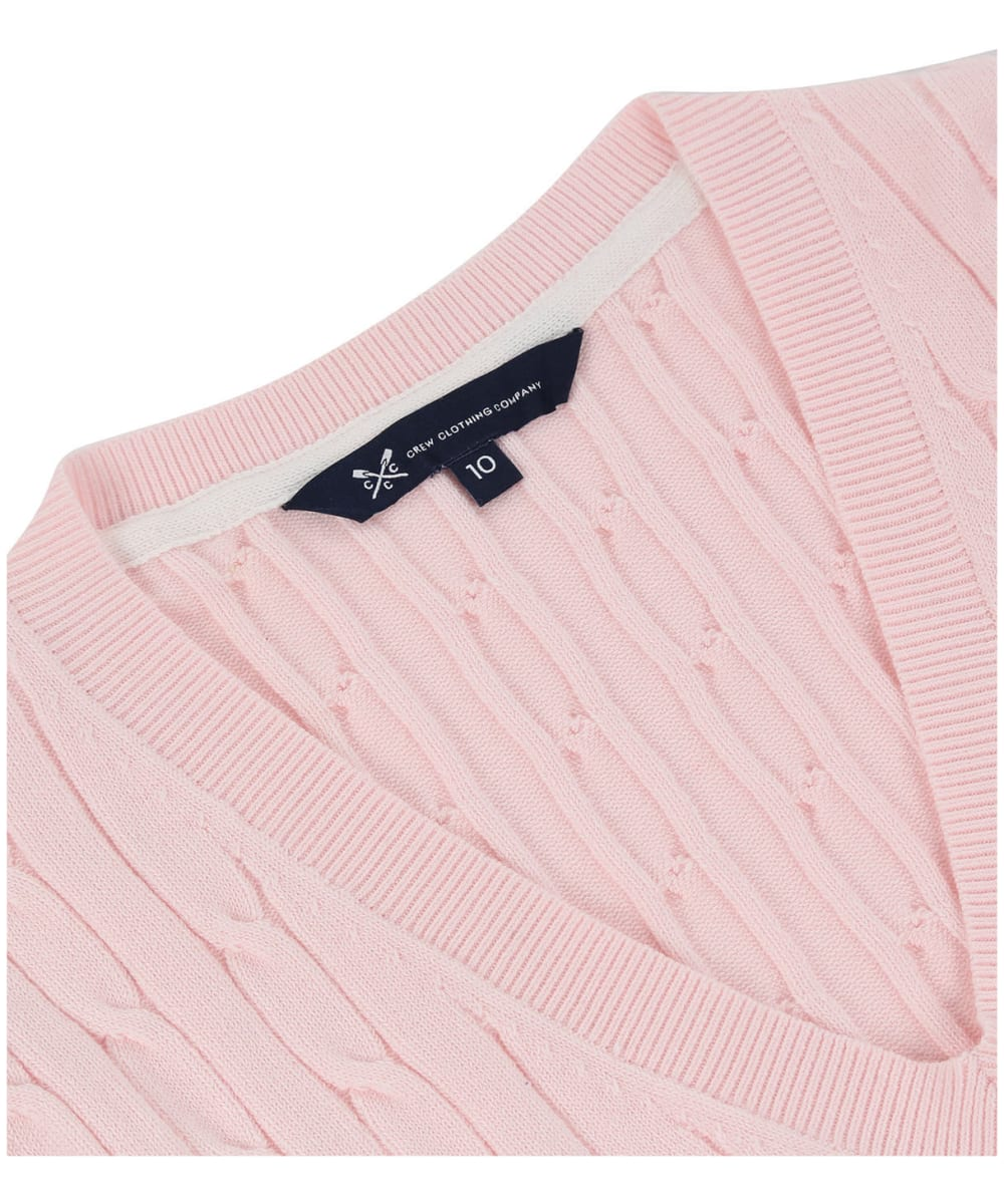 f760d19cddb ... Women s Crew Clothing Summer Heritage Cable Jumper - Soft Classic Pink  ...