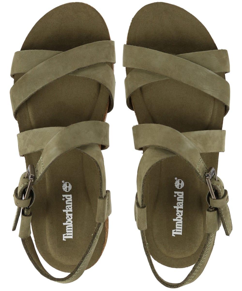 d724e2753269 ... Women s Timberland Malibu Waves Ankle Strap Sandals - Olive Nubuck ...