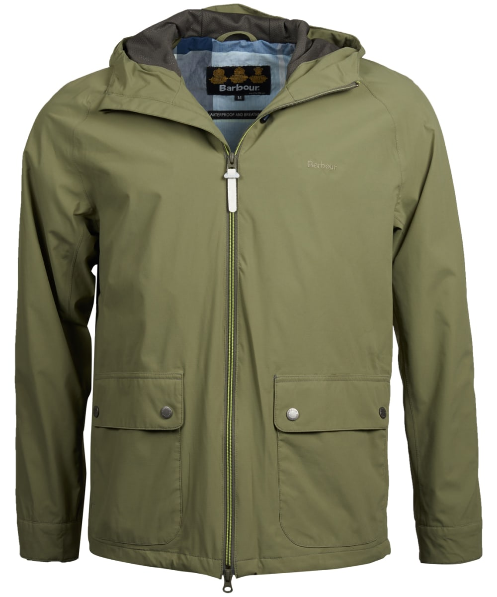 d85aa30fec135 Men's Barbour Howtown Waterproof Jacket - Light Moss