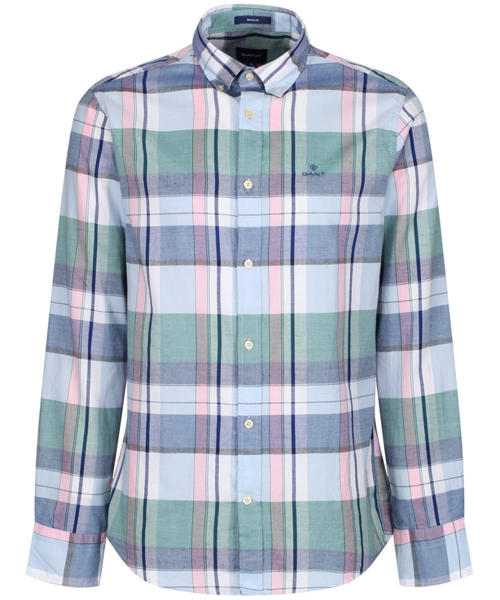 Los Angeles på fötter skott av 100% toppkvalitet Men's GANT Oxford Madras Shirt