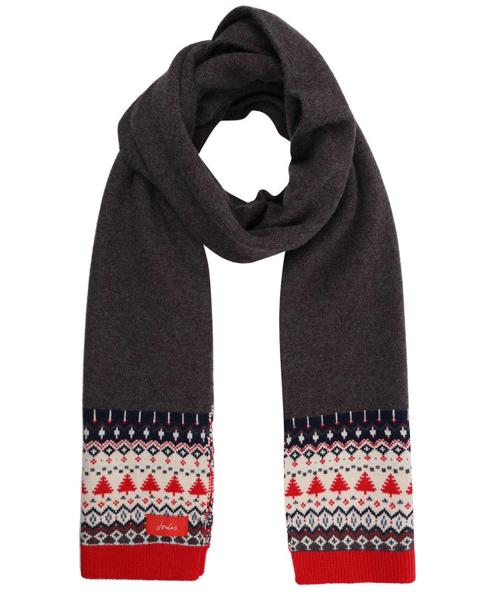 Women S Joules Swirlton Fairisle Knitted Scarf