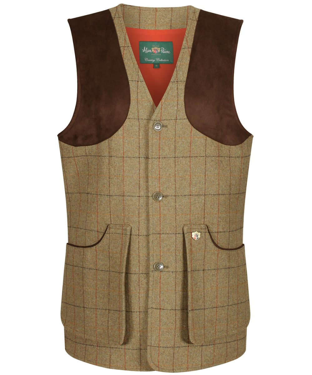Mens Alan Paine Mens Combrook Tweed Shooting Waistcoat//Vest