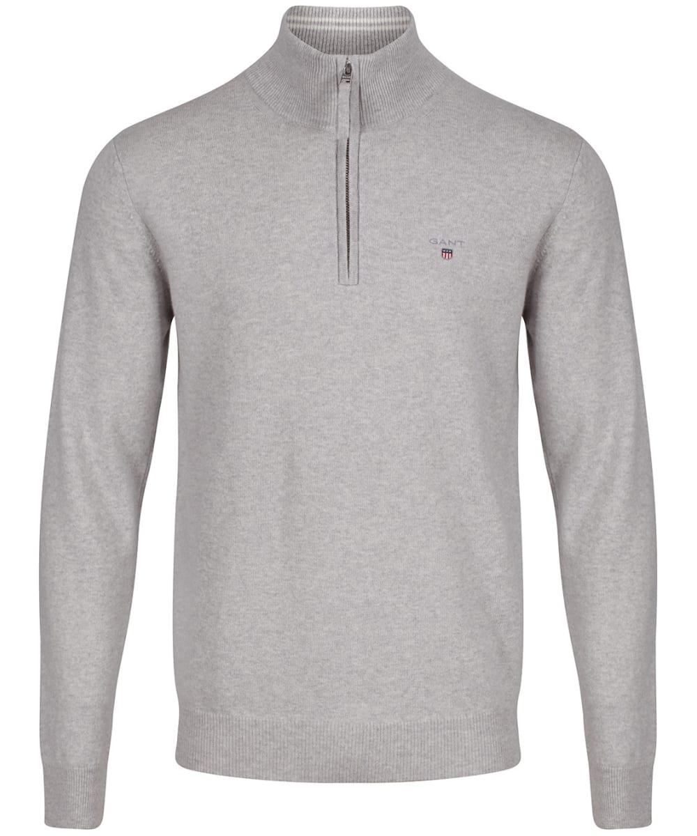 GANT Mens Superfine Lambswool Half Zip Sweater