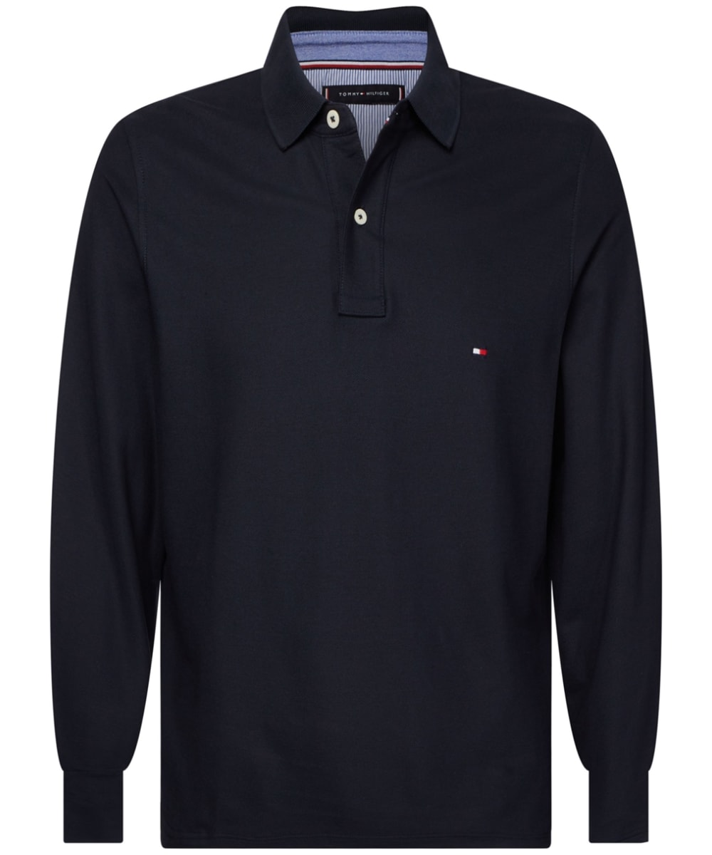 Tommy Hilfiger Men/'s Signature Long Sleeve Polo