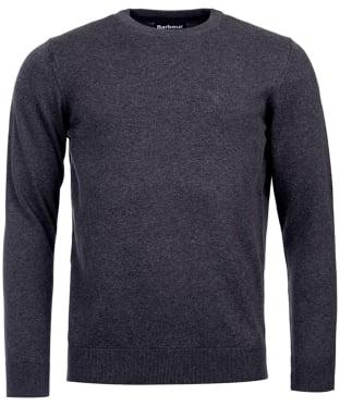 Men's Barbour Pima Cotton Crew Neck Sweater - Charcoal